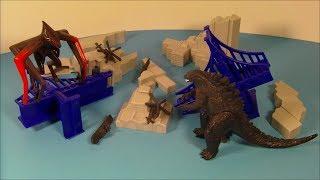 2014 GODZILLA DESTRUCTION CITY PLAY SET MOVIE TOY VIDEO REVIEW