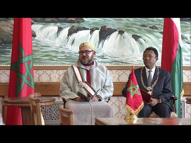 Le Roi Mohammed VI à Madagascar- Réception au Palais