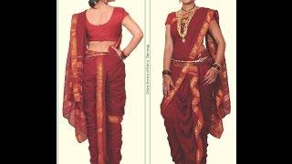 Easy Mastani saree cutting and stitching with English subtitles.
