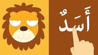 تعلّم قراءة أسماء الحيوانات بالحركات, الفتحة, الضمة, الكسرة والسكون | تعليم القراءة للاطفال