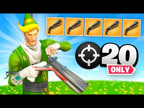 Double Barrel Shotgun ONLY 20 Elims