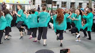 Masala Bhangra performs at the Bryant Park Dance Party 2018