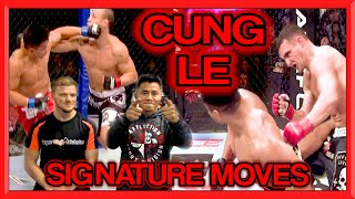 CUNG LE Teaches his Signature Moves: Spin Back Kick/Hammer Fist Combo | GNT