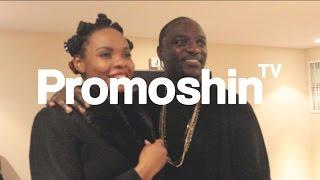 AKON Meets Yemi Alade & Wizkid Backstage At Wembley | PromoshinTV