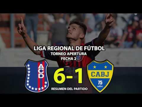 Automoto vs Boca Juniors Resumen 6 1 Fecha 2 Liga Regional de Fútbol