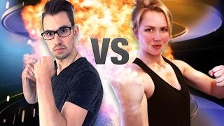 CrossFit Girl Arm Wrestles Scrawny Man! (@Courtneyscoffs vs @NotGayJared)