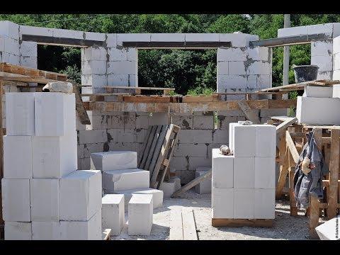 Строительство из газобетона своими руками ютуб