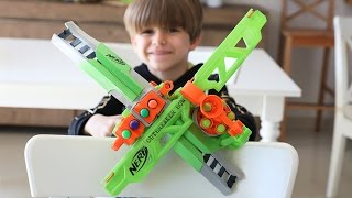 NERF Twin Bow Blaster TOY Gun Hunting for Sammie Game