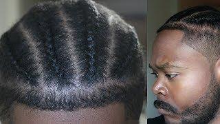 4 Easy Fresh BRAIDS: Faded Haircut Tutorial! MEN'S HAIRSTYLES