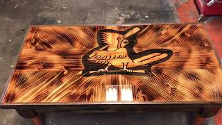 Woodworking, St. Louis cardinals coffee table!!