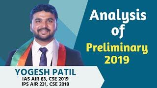 Analysis Of Preliminary 2019- Yogesh Patil AIR 231 Cse18