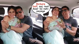 Akshay Kumar HUGS Kareena Kapoor in Car | FUNNY MOMENTS  | Good Newwz Promotion