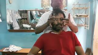 Relaxing head massage with neck cracking - Travel series video 15