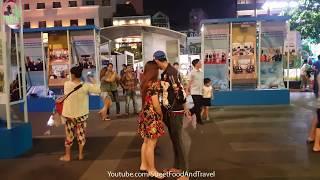 Vietnam Travel - Decor street flowers Tet Holiday 2017 - Nguyen Hue Walking Street Saigon