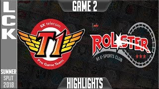 SKT vs KT Highlights Game 2 | LCK Summer 2018 Week 5 Day 3 | SK Telecom T1 vs KT Rolster G2