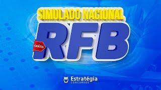 Correção do Simulado RFB com RANKING - 31 de Julho | Ao vivo