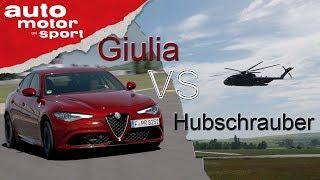 Alfa Romeo Giulia vs. Hubschrauber - Fast Lap Trailer   auto motor und sport