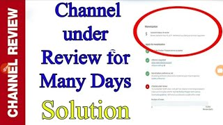 My youtube channnel under reviews Prablms