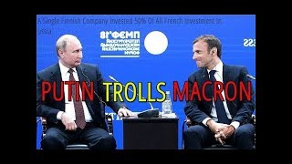 """Putin Pokes Fun At Macron Over """"Huge"""" French Investments In Russia"""