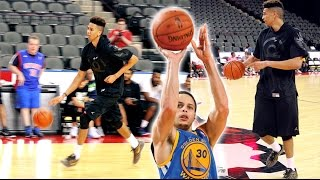 PLAYING BASKETBALL ON A NBA COURT! STEPH CURRY 3 POINT RANGE! 5v5 HIGHLIGHTS vs 2K YouTubers
