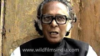 Indian filmmaker Mrinal Sen speaks about his film 'Baishey Shrabon'