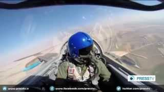 Iran Air Force 100% home-made fighter aircraft saeqeh 2 flight test under total arm ebmargo part 3-3