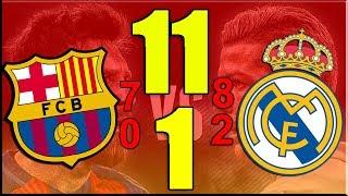 """أكبر 10 إنتصارات في تاريخ """"كلاسيكو الأرض"""" بين ريال مدريد وبرشلونة !"""