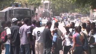 Visite de Hollande en Haïti: Manifestations des étudiants de la Faculté d'Ethnologie