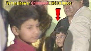 Varun Dhawan's EXCLUSIVE CHILDHOOD UNSEEN Video | Bade Miyan Chote Miyan | Bollywood Flashback