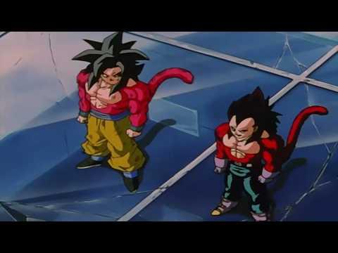 DragonBall GT Goku & Vegeta Fuse Gogeta SSJ4 Remastered 720p HD Original