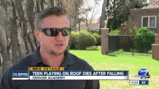 Teen playing on roof of Denver Academy dies after falling