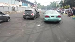 Honda Brio vs sedan gila banget balapnya (Banda Aceh)