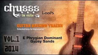 E Phrygian Dominant Guitar backing track Arabic beats