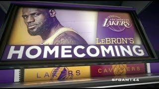 LeBron's Homecoming Intro | NBA on ESPN | LAL vs CLE |
