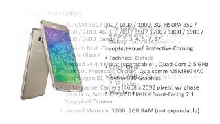 Samsung Galaxy Alpha G850a AT&T Unlocked Cellphone, 32GB, Gold.mp4
