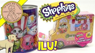 Shopkins Valentines Sweet Treat Tin Candy Jewelry & Paint Can Mailbox