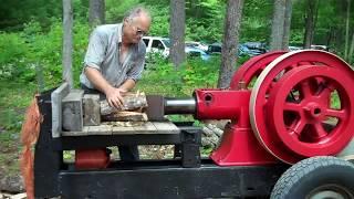 Depression Era Homemade Log Splitter