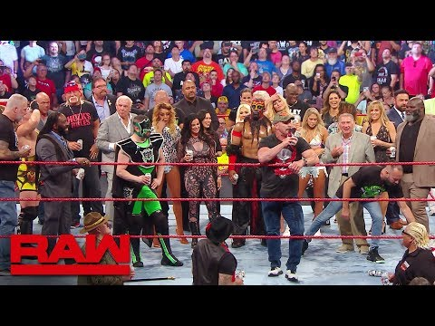 """Stone Cold"" Hulk Hogan and Ric Flair lead A Toast to Monday Night Raw Raw Reunion July 22 2019"