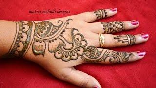 stylish simple mehndi henna designs for hands for beginners:mehndi designs for hands