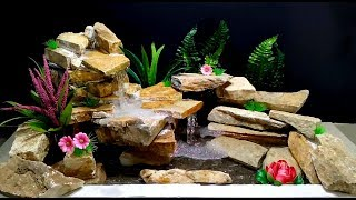 How to make Fountain Waterfall used Stones