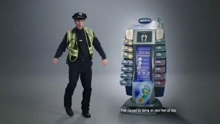 TV Commercial - Dr. Scholl's Custom Fit Orthodontic Inserts - The Policeman - Foot Mapping Centers