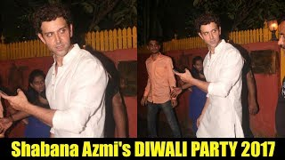Hrithik Roshan At Javed Akhtar And Shabana Azmi's Diwali Party 2017