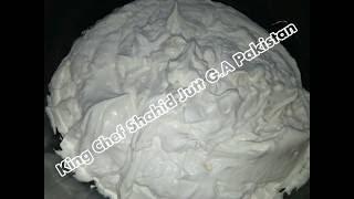 Butter Cream King Chef Shahid Jutt G.A Pakistan
