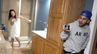 CAUGHT NAKED IN SHOWER PRANK!!
