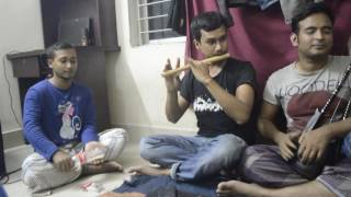 Beder Meye Josna.. Flute Cover.. Mess Adda.. with awesome instruments