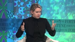 Elizabeth Holmes Mission   Full Interview Fortune MPW