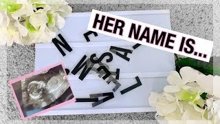 BABY NAMES I LOVE BUT WON'T BE USING + BABY NAME REVEAL