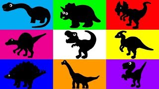 Dinosaurs for kids, Dinosaurs Learn Name and Sounds, Jurassic World Puzzle Animation for Children