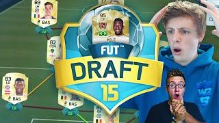 PELE WAGER!! - FIFA 16 FUT DRAFT GAMEMODE ON FIFA 15