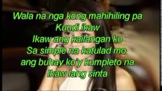 Simpleng Tulad Mo - Daniel Padilla (Official Video Lyrics)